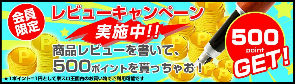 商品レビューでポイントGET!レビューキャンペーン実施中!!